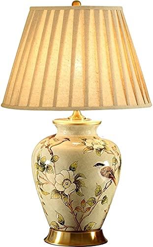 Lámparas De Escritorio Inicio Cálido Copper Sala De Estar Estilo Europeo Lámpara De Noche Americana Cerámica Lámpara Lámpara Dormitorio Noche Lámpara De Noche