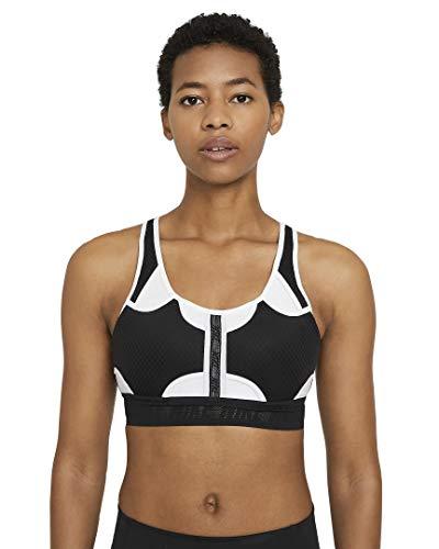 NIKE Swoosh ULTRABREATHE Bra Sports, Black/White/(White), M Womens