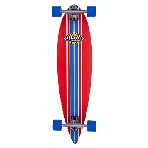 D-Street Pintail Ocean Skateboard, Unisex, Erwachsene, Unisex, DST-COM-2126, Rot (rot), 35 IN