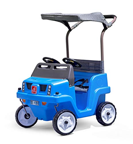 Step2 Side-by-Side Push Around SUV | Two-Seater Toddler Push Car | Blue