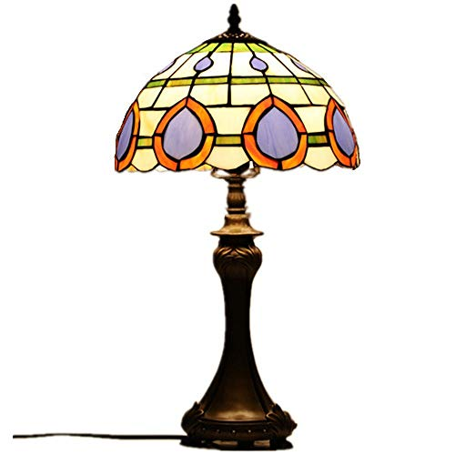 Ofgcfbvxd Lámpara D Noche Lámpara de Mesa de protección de Ojos barrocas Lámpara de Mesa Decorativa de Estilo Europeo de Estilo Europeo Lámpara De Mesa Retro (Color : Natural, Size : 30x56cm)