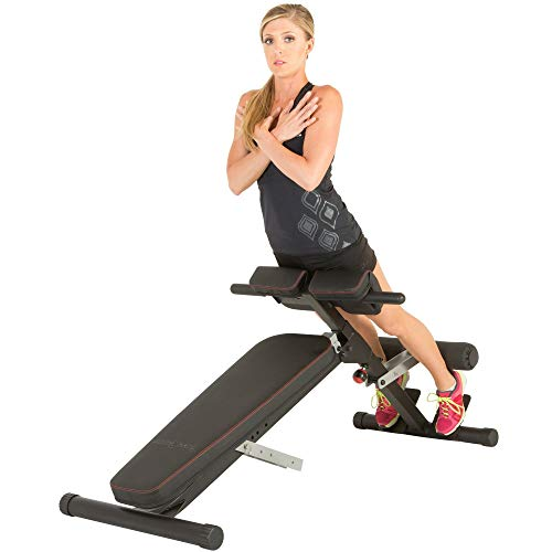 Fitness Reality X-Class Light Commercial Multi-Workout Abdominal/Hyper Back Extension Bench, Black