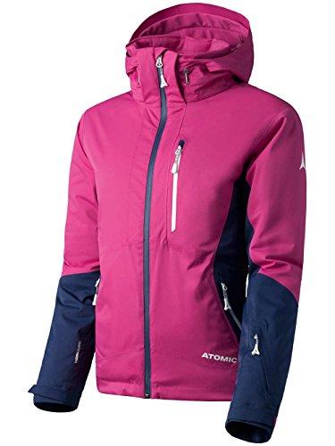 Atomic, Damen Ski-Jacke, Wasserdicht, Atmungsaktiv, Stretch, Alps Jacket, Größe: L, Pink/Dunkelblau, AP5028430