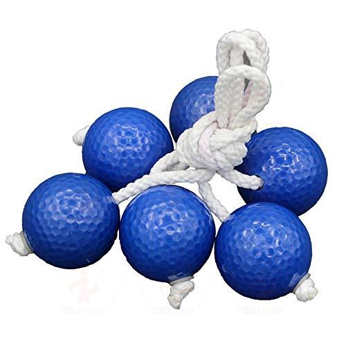 Práctica de Golf Juego de 3 Juegos de reemplazo Bolo de Ladderball Bolas para niños, de Goma Blanda Segura o Dura, de Bolas de Golf. Equipo de Golf (Color : Blue, Size : 3pcs)
