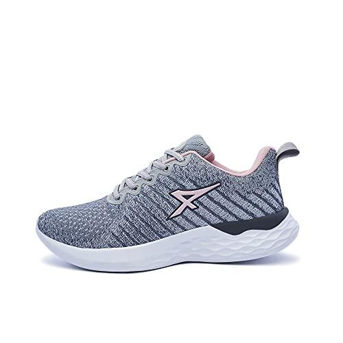 ATHIX Compaction Flexy - Zapatillas de Correr para Mujer, Gris (Gris/Rosa), 37 EU - Zapatillas cómodas y Transpirables