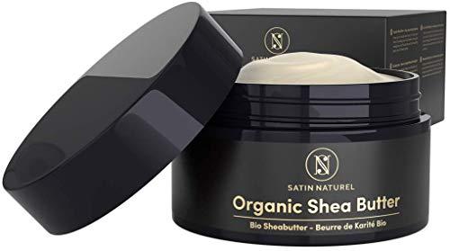 EINFÜHRUNGSPREIS BIO Sheabutter pur 200 ml – Natürliche Body Lotion für Trockene Haut – Shea Butter als Moisture & Tattoo Creme für Damen & Gesichtscreme - Satin Naturel Naturkosmetik ist Vegan