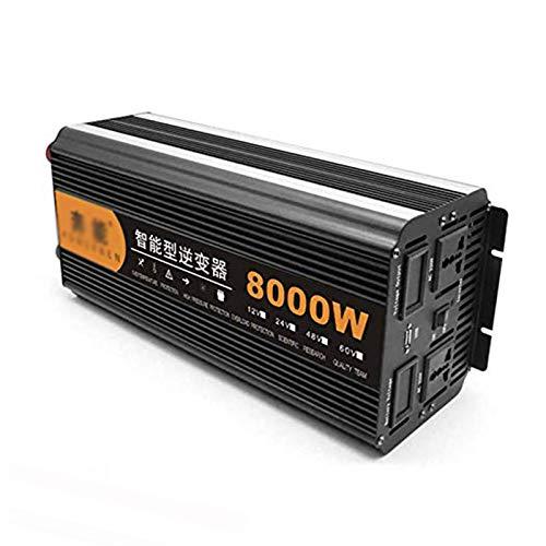 GRTBNH Power Inverter DC 24v to AC 220v, 2200w/3200w/4000w/6000w/8000w/12000w Sine Wave Inverter, Voltage Converter with USB Ports and LED Digital Display,24v to 220v,8000W