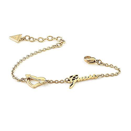 Raten Sie Armband Über My Heart UBB79091-S Gold Edelstahl Herz-Pfeillogo plattiert