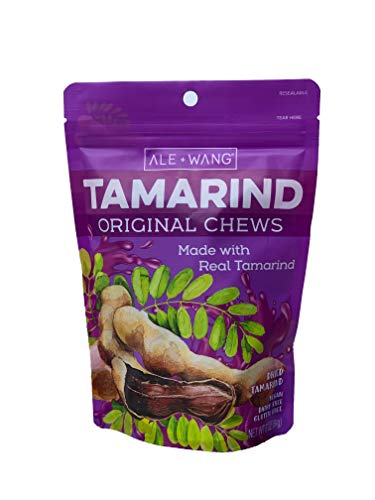 ALE + WANG Tamarind Original Chews | Made with 100% Natural Dried Sweet Tamarind | Great Alternative to Herbal Fruits (1-Pack)