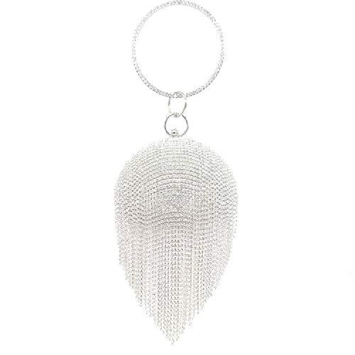 CZYTN Bolsa de cena de bola, bolso, diamantes de imitación, borla, bolsa de noche, bolsa de maquillaje, hermoso precio, alto rendimiento