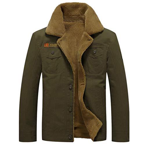 GITVIENAR Herren Winterjacke,Hochwertiges Kunstleder Lederjacke Parka/Mantel mit Fell warme Mens Jacket gefüttert übergangsjacke für Jugendliche und Erwachsene