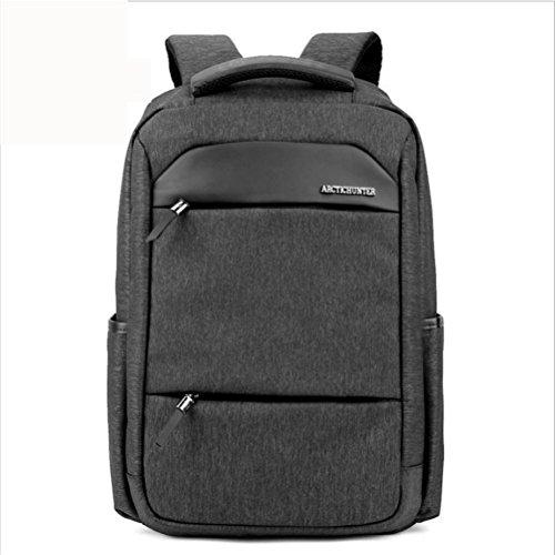 ZXJ Sac à Dos Ordinateur Portable 18 Pouces Imperméable Nylon Entreprise Décontractée Backpack