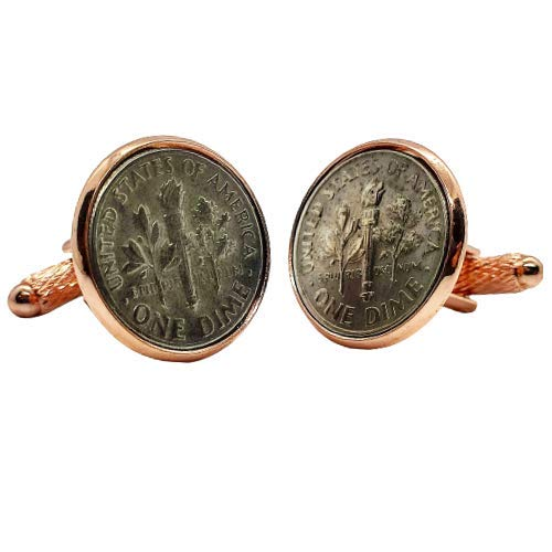 Gemelos para camisa: Genumis E Pluribus Unum - Moneda 1 dime 1965-2020