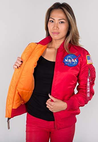 Alpha Industries MA-1 VF NASA Damen Jacke Rot XS