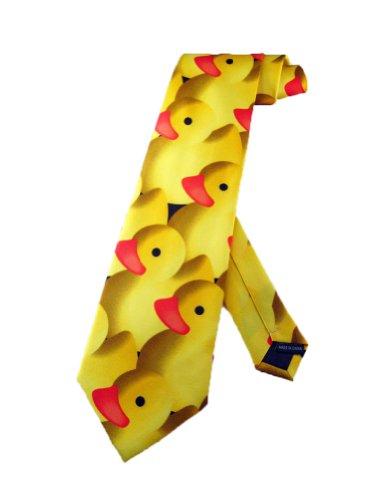 Steven Harris cravate petit canard en plastique jaune - cravate taille unique