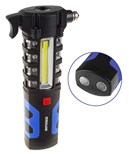 Aduro Sport ZeroDark Tactical Emergency Car Escape Tool with Seatbelt Cutter and Window Glass Breaker Hammer Car Lockout Kit Blue