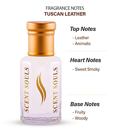 Scent Souls Tuscan Leather Perfume/Fragrance Oil Roll-on Attar for Men , 3 ml