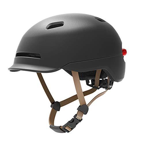 Bike Helmet Yuan Ou 2 in 1 Bicycle Lamp Cycling Smart Tail Light Bike Adult Helmet Bike Kid Helmet MTB Road Scooter Sport Urban Helmet L(56-61cm) Black