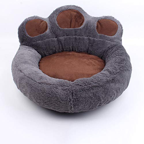 Pet Bed for Cat, Soft Pet Sleeping Nest,Warm Plush Donut Cushion, kittens Cuddler with Cozy Sponge for Small Medium Pet Bed for Cats Plush Cat Bed Dount Warm Kitten beds Gray Round Cat Nest
