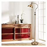 KISAD Vintage Eye Protection Reading Standing Lamps E27 Rustic Floor Task Lamp in Aged Metal Floor Light with Foot Switch