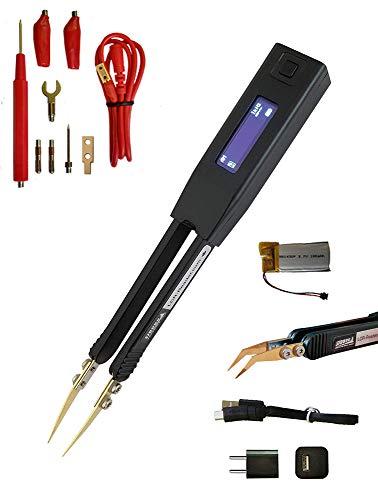 Pinzas inteligentes LCR-Reader Pro: multímetro digital LCR-metro medidor de inductancia con conector de sonda Kelvin, cargador y sondas ergonómicas dobladas