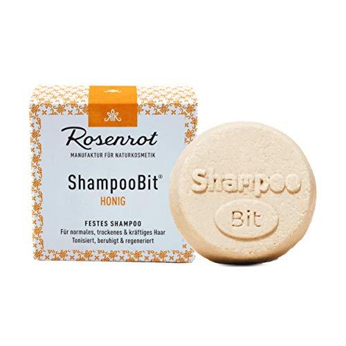 Rosenrot Naturkosmetik - ShampooBit® - festes Shampoo Honig - 55g - Für normales, trockenes & kräftiges Haar. Tonisiert, beruhigt & regeneriert.