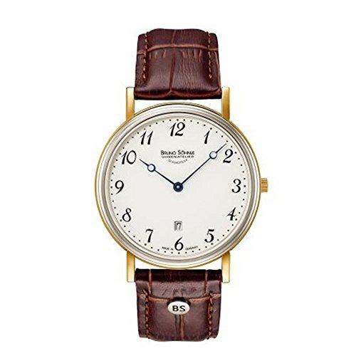 Bruno Söhnle Herren Analog Quarz Uhr mit Leder Armband 17-23109-920