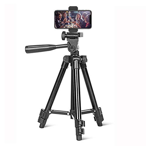 Mini Phone Tripod,BONFOTO Travel Table Tripod Stand for Camera with Wireless Remote&Phone Clip,Lightweight Cell Phone Tripod Compatible with iPhone, Android Phone, Camera