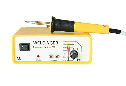 WELDINGER Brandmalstation BS 750 - regelbare Brennerstation - Brandmalgerät (40 W)