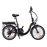 ZIEM Bicicleta Eléctrica Plegable para Adultos De 20 Pulgadas - Fácil De Almacenar En Caravana, Casa Rodante, Barco, Coche. Alcance De 80 a 100 Km En Modo Power Assist
