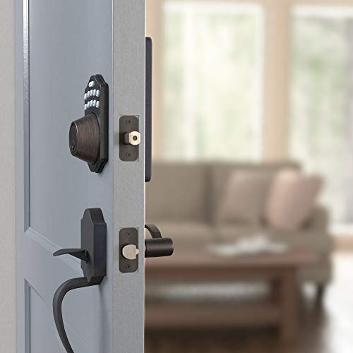 AmazonBasics Traditional Electronic Keypad Deadbolt Door    Lock, Keyed Entry, Oil Rubbed Bronze