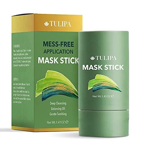 Green Tea Mask Stick, Green Mask Stick, Deep Cleansing Smearing Mask, Clay Charcoal Facial Mask Stick, Balancing Oil & Water, Moisturizing & Nourishing Skin