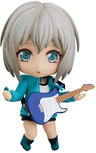 Q Version Aoba Mokka Figur, 3,9 Zoll BanG Dream Charakter Modell, mehrere Zubehörteile enthalten, Gelenk kann Nendoroid bewegen, PVC Material Anime Girl Figma (für Geschenksammlung)