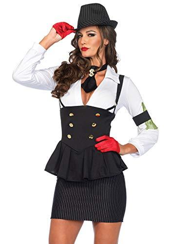 Leg Avenue - Machine Gun Maffia Molly Carnaval kostuum, Maat S