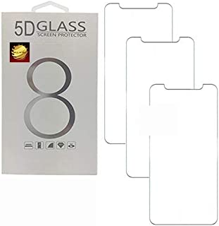 Gold Global 3 Pack Screen Protector Compatible with iPhone 11 and XR 5D Tempered Glass, Compatible. 6.1 Inch with Cases