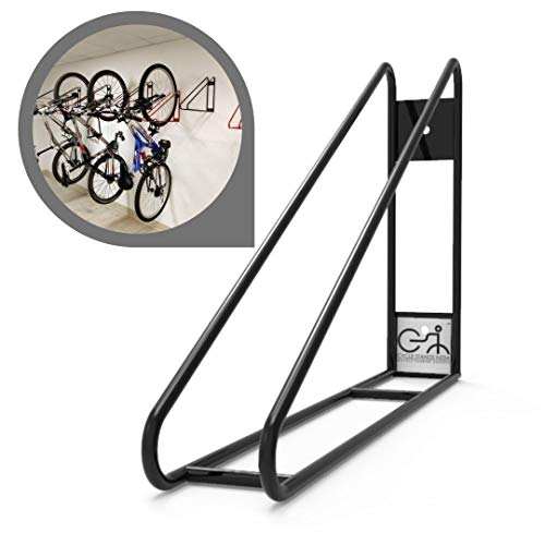 Cycle Stands India Wall Mount Bike Rack Vertical Bicycle Hanger with Easy and Secure Storage for Space Saving in Garage and congested Areas- (Black Color)