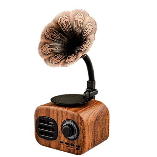 Altavoz Bluetooth, Altavoz Retro Inalámbrico Bluetooth 4.1, Sonido, Micrófono Incorporado, Tiempo De Reproducción 6H, Llamadas Manos Libres, Ranura para Tarjeta TF