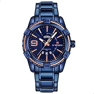 NaviForce NF9117N Men's Sport Stainless Steel Wrist Quartz Watch - Blue