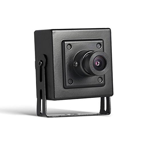 Revotech CCTV Mini IP-camera, H.265 HD 3MP 2MP 1080P 1296P Beveiligingscamera, Indoor Bedrade Cam Bewegingsdetectie ONVIF P2P Metalen hoes 3,6 mm lens Hidden Surveillance Cam (I706 Black)