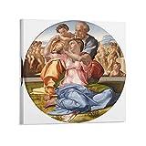 Tondo Doni por Michelangelo Buonarroti Arte Renacentista Religiosa Sagrada Familia (1) Impresiones Pintura Nórdica Decoración Sala 50x50cm