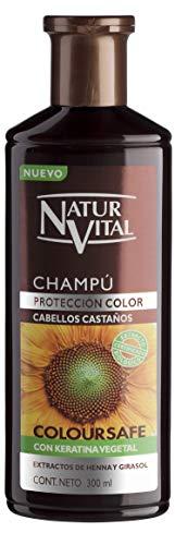 NATUR VITAL champú protección color cabellos castaños bote 300 ml