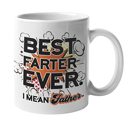 Best Dad Gifts - Worlds Best Farter Father Mug | Dad Birthday Gifts, Fathers Day Gifts for Dad - Best Dad Ever Mug | Funny Coffee Mugs - Worlds Greatest Farter I Mean Father Cup | Gag Gift for Dads