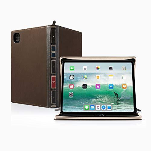 Twelve South BookBook Vol 2 per iPad Pro da 11' (Gen 1 e 2) | Custodia rigida in pelle e cavalletto con matite/documenti/tastiera per iPad Pro + Apple Pencil