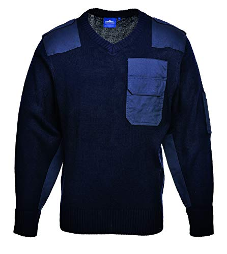 Port-West Pullover Troyer Sweater Military Strickpullover Tactical Navy Bundeswehr (Marine, XL)