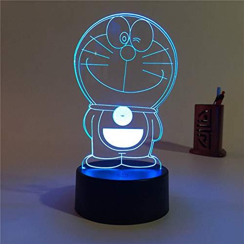 Lámpara de ilusión 3D Un sueño LED7 color control remoto táctil dormitorio para niños Lámpara de mesita de noche USB regalo de cumpleaños de Navidad para niños