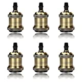 GreenSun LED Lighting 6 Pack E27 Vintage Ampoule solide céramique douille Support de...