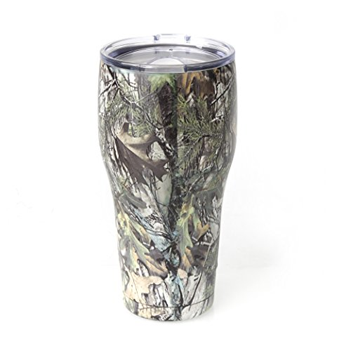 Tahoe Trails 30 oz Stainless Steel Tumbler Vacuum Insulated Double Wall With Lid, Green Camouflage