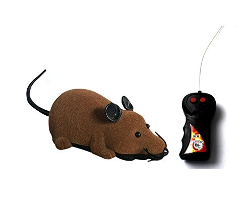 Greatstar Remote Control Rat Toy, Wireless Electronic Mouse, One Best Gift for Your Cats Dogs Pet Or Kids & Children Curious Love (Brown)