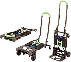 Cosco Shifter 300-Pound Capacity Multi-Position Heavy Duty Folding Hand Truck and Dolly, Green - 12222PBG1E