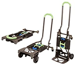 Heavy Duty - Durable Steel Frame with 300 lbs. Weight Capacity Easy to Use - Quick Conversion with no pins or tools Multi-Position - Use as a 2-Wheel, Upright Hand Truck or into a 4-wheel Cart Folds Flat for Transport/Storage. Product Measurements : ...